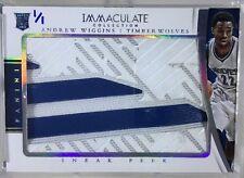 ANDREW WIGGINS True 1/1 RC 2014-15 Immaculate Sneak Peek Game-Worn Adidas Logo