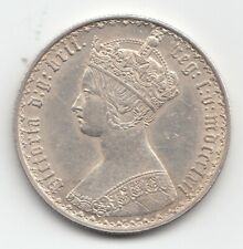 More details for very rare queen victoria 1862 florin two shillings 2/- great britain.
