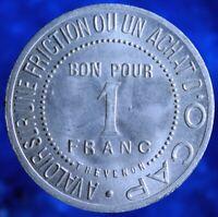 ANCIEN JETON ALU 1900 1F O CAP COIFFURE PARFUMERIE PUBLICITÉ SHAMPOING THEVENON