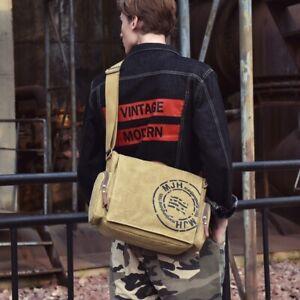 Men's Briefcase Laptop Bag Cross Body Chest Boy Shoulder Student Casual Large