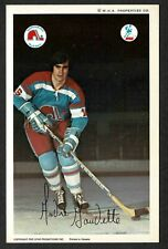 1972-73 WHA Quebec Nordiques Team-Issued Postcard(Pro Star Prom.) Andre Gaudette
