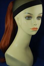 """Hairpiece Clip-on Fox Red #130 color-- by Mona Lisa 18"""" Synthetic"""