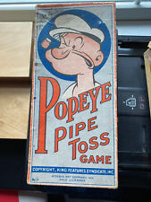Vintage Popeye 1935 Pipe Toss Game in original box King Features Rosebud Art Co.
