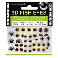 Cormoran Angeln Fischaugen - 3D Fish Eyes sortiert 5/7/9mm