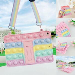Pop Fidget Toys Push It Bubble Case Cover For iPad 8 7 10.2/6 5th 9.7 Pro 11 Air