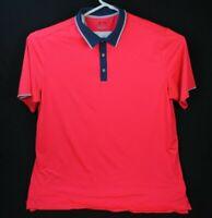 Adidas Polo Shirt Mens 2XLT ClimaCool Short Sleeve Lightweight Golf Pink