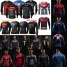 3D Marvel Super Hero Long Sleeve Compression Sport Fitness T-shirt Mens Clothing