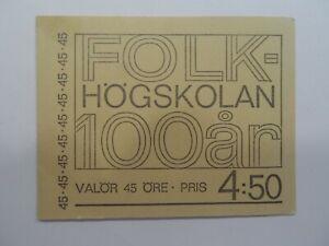 Discount Stamps : SWEDEN 1967-68 HOGSKOLAN 4.50ore MNH COMPLET BOOKLET