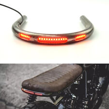 Cafe Racer Rear Seat Frame Hoop Loop 230mm Width with LED Brake Turn Tail Light