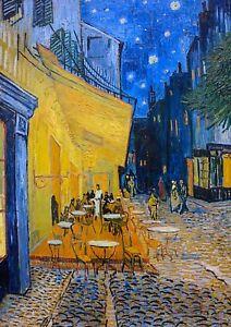 Café Terrace at Night, Vincent Van Gogh, 1888, Art Poster or Museum Canvas Print