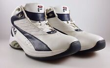 FILA Basketball Mid/High Men's White with blue stripe.(Size 10 US)