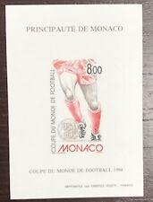 MONACO bloc spécial n° 25a FOOTBALL 1994  non dentelé TB **,  RARE ! COTE  230€.