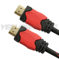 Braided Ultra HD HDMI Cable v1.4 High Speed + Ethernet LCD HDTV 1080p 4K 3D GOLD