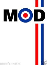MOD RETRO MODS A5  IRON ON TRANSFER LIGHT GARMENTS ONLY