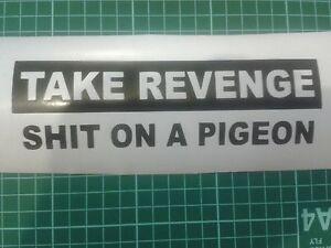 Take revenge on a pigeon. Fun Car Bumper Vinyl