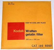 "Kodak Wratten 96 N.D. 0.60 Gelatin 150mm (6"") Neutral Density ND .60 Filter NEW"