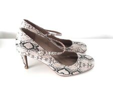 M&S Snake Print Heels Mary Jane Sandals Stiletto Insolia Size UK 5.5 / EU 38.5