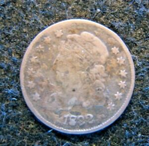 1832 US Bust Half Dime Silver Circulated  Issues Damaged