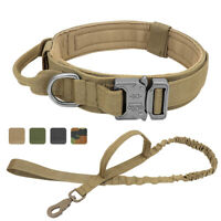 Tactical Dog Collar and Lead K9 Dogs Military Training Leash Medium Large Dogs
