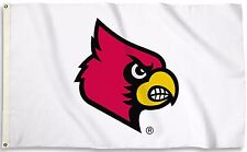 Louisville Cardinals 3' x 5' Flag (Logo Only on White) NCAA Licensed