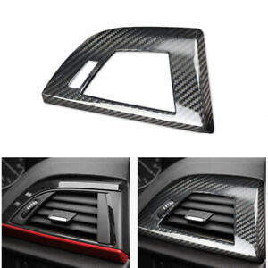 RHD Carbon Fiber Side Air Outlet Vent Cover Trim Fit For BMW F20 F22 Series 1 2