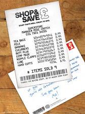 Brainbox Candy 'Shopping Receipt' Postcard Funny Comedy Humour Novelty Cheeky