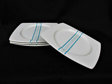 "4 Mikasa Dot Com Blue Salad Plates 10"" Mint Condition"