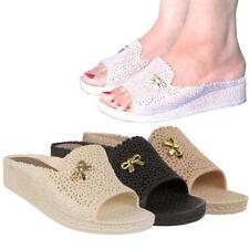 "Women's Floral Wedge Flat (less than 0.5"") Sandals & Beach Shoes"