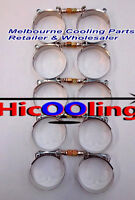 10 x3.15'' Stainless Steel T-Bolt Turbo Intercooler Silicone Hose Clamps 83-91mm