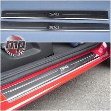 New Vauxhall Corsa D SXi Silver Steel Kick Plate Car Door Sill Protectors - K176