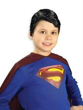 DC COMICS CHILD CLASSIC SUPERMAN BLACK VINYL WIG COSTUME ACCESSORY RU6491