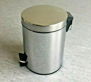 Stainless Steel Rubbish Waste Pedal Bin Bathroom Kitchen Office 3 L
