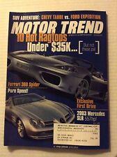 Motor Trend Magazine Ferrari 360 Spider June 2000 022317NONRH
