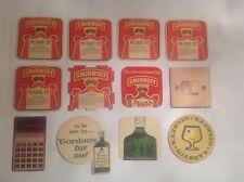 vintage smirnoff vodka and gordons & gilbys gin coasters
