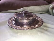 LOVELY Vittoriano Reed and Barton piatto d'argento burro Dish 19 cm d