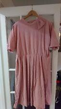 Vintage Pink 60s/70s Mad Men Secretary Geek Indie Kawaii Dress Sz 14
