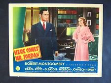 HERE COMES MR JORDAN '41 ROBERT MONTGOMERY IS A CHANGED MAN NEAR MINT LC