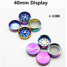 Herb/Spice/Weed Alloy Case 4 Parts Crusher 40mm Rainbow Colors Herb Grinder
