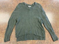 Madewell Women's Green Long Sleeve Knit High low comfort sweater size M
