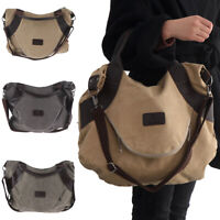 Large Ladies Shoulder Bag Crossbody Canvas Handbag JF