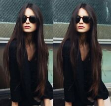 100% Human Hair Long Straight Natural Wig 26 Inches Real Hair Wig Women's Hair
