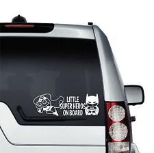 Kids On Board Little Batman Super Heroes Decal Vinyl Sticker For Window