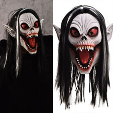 Halloween Fangs Vampire Monster Latex Mask Masquerade Party Horrifying Supplies