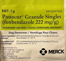 Panacur 100 packets Merck Dog Dewormer Treatment 222mg 22.2% 펜벤다졸 ( C = canine )