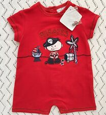 Dani by Sarah Louise Red Pirate Romper 3 Months. Never Worn