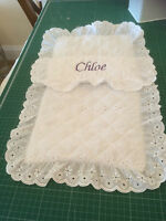 PERSONALISED DOLLS PRAM COVERS OR SETS IDEAL SILVER CROSS + ALL MAKES OTHER PRAM