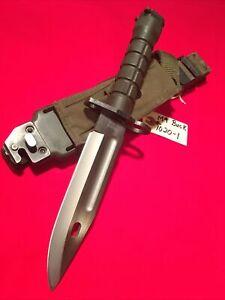 VINTAGE PHROBIS III M9 (BUCK) BAYONET W/ORIGINAL BIANCHI SCABBARD (POLISHED)👀!!