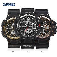 SMAEL Men's Military Watch Dual Time Digital Analog Sports Wristwatch Free Ship