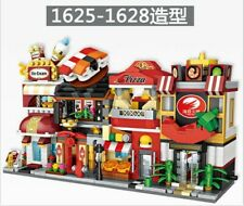 4 set LOZ Blocks Mini Street Building Block Pizza Sushi Icecream Shop Toys
