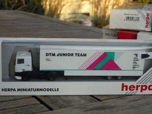 Herpa 35804 Race Car Transporter DAF Kölner Flitzer DTM Junior Team # Boxed